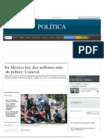 En México Hay Dos Millones Más de Pobres_ Coneval - Grupo Milenio