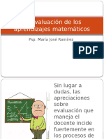 La Evaluación de Los Aprendizajes Matemáticos