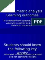 Volumetric Analysis Precautions