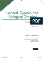 General,Organic and Biochemistry