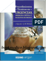 Procedimientos Tecnicos en Urgencias, medicina crítica y pacientes de riesgo.