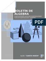 Algebra de 4to de Secundaria