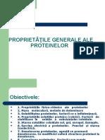 Proprieti fizico-chimice Proteine