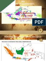PowerPoint Perkembangan Provinsi di Indonesia untuk Media Pembelajaran IPS Kelas 6 Semester 1.pptx