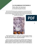 La novela colombiana posterior a Cien años de soledad. Por Harold Alvarado Tenorio