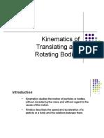 BEF 25903 - Kinematics of Translating and Rotating Bodies