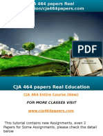 CJA 464 Papers Real Education-cja464papers.com
