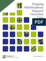 Designing Multidisciplinary Integrated Curriculum Units