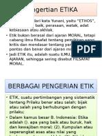 2. Bidang-pengertian Etika