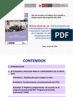 Fortalecimiento Del Funcionamiento Del CPVC Planificacion y Programacion en El PAN