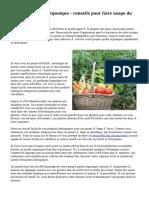 Élever un jardin organique - conseils pour faire usage du droit maintenant