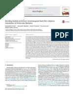 Breeding habitat preference of preimaginal black