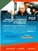Howard Brookins mailer for Congress