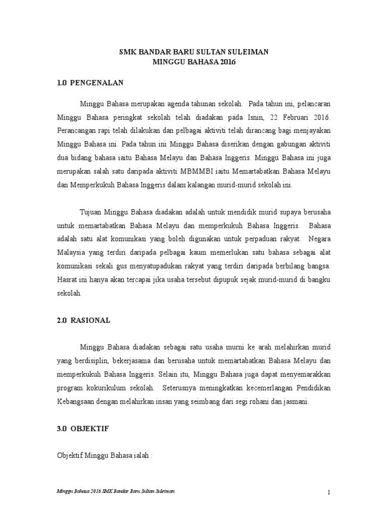 Dokumentasi Minggu Bahasa 2016