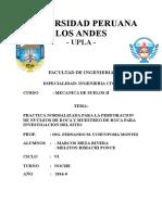 PRACTICA NORMALIZADA PARA LA PERFORACION DE NUCLEOS DE ROCA Y MUESTREO DE ROCA PARA INVESTIGACION DEL SITIO