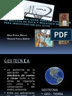 PRACTICA NORMALIZADA PARA LA PERFORACION DE NUCLEOS DE ROCA Y MUESTREO DE ROCA PARA INVESTIGACION DEL SITIO Ppt .