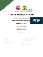 Sijil Watikah Perlantikan Pma 2016