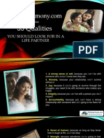 Multimatrimony.com Dictates 35 Qualities you should look for in a Life Partner