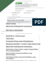 Permendiknas Nomor 20 Tahun 2007_ Standar Penilaian Pendidikan - Documents.pdf