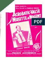 Sheets-Charley Bazin - Acrobatic Valse