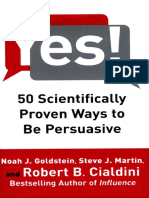 Yes 50 Scientifically Proven Ways to Be Persuasive