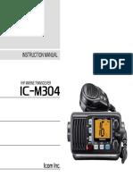 Marine_IC-M304 Instruction Manual