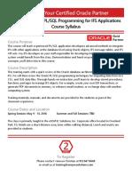 Advanced Oracle PL SQL Course