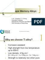 Ti and Shape Memory Alloys
