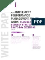 An Intelligent Performance Management Framework Whitepaper