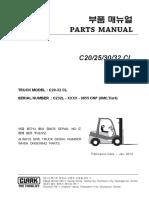 Clark forklift C20-32CL (Lot No _ 9855)