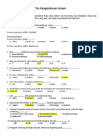 Psikotest General Aptitude Test GAT