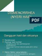 32. DISMENORRHEA