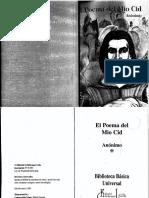 El Poema Del Mio Cid