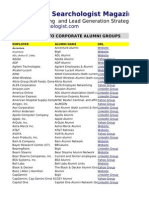 Corporate Alumni Groups