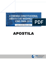 A Emenda Constitucional 872015 e as Mundaças No Icms Para 2016 - José Júnior - Apostila