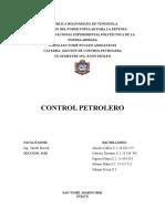Informe Control Petrolero