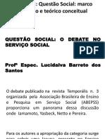 Aula 1 o Debate Da Questão Social No Serviço Social