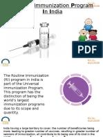 Routine Immunization Program in India