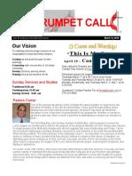 Trumpet Call 2016-3-13