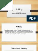 acting presentation pp