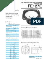 Fostex FE127E Driver Datasheet