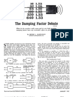 The Damping Factor Debate by George Augspurger