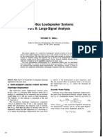 Vented Box Loudspeaker Systems Part II