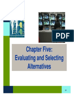 Evaluating Creteria and Selecting Alternatives (1)