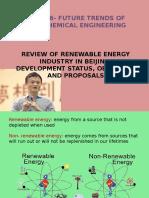 Review of Renewable Energy Industry in Beijing