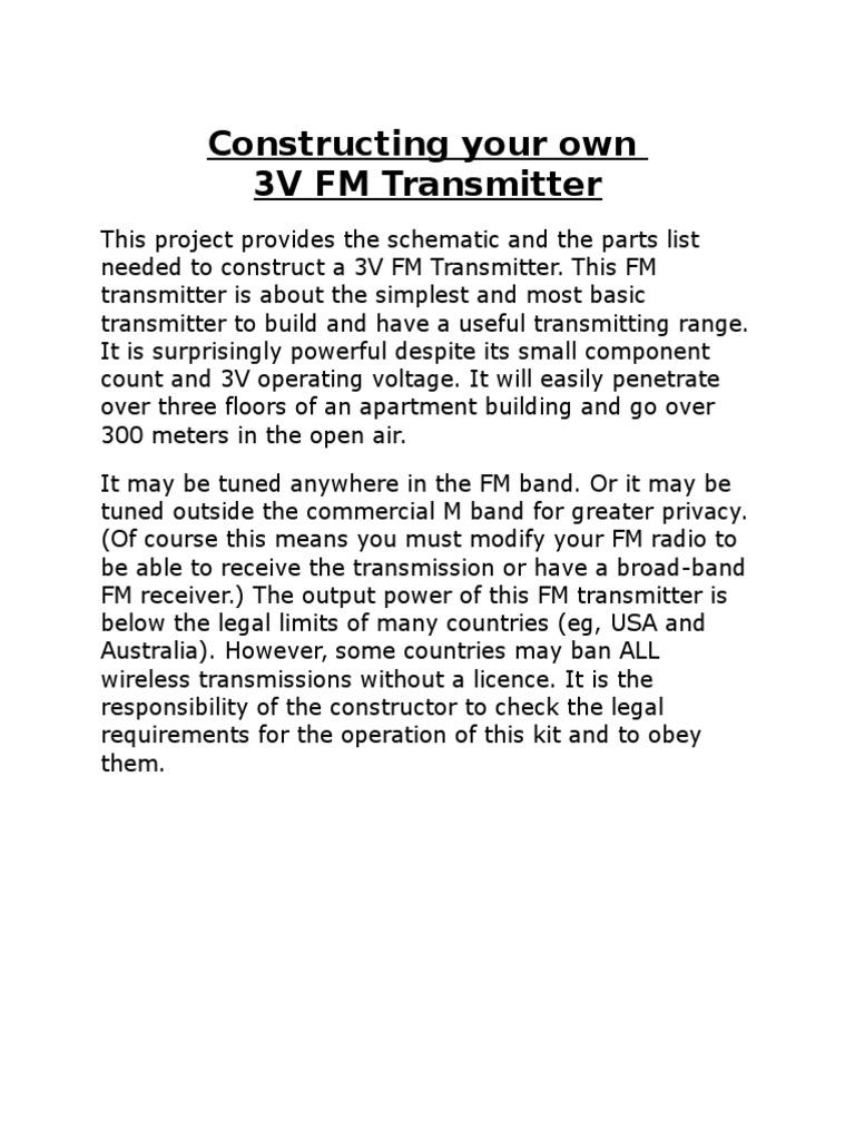 433mhz Transmitter Details Capacitor Amplifier Three Stage 9v Fm