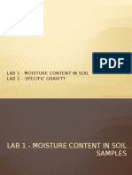 Lab - Moisture Content and Specific Gravity of Soils