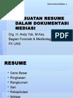 A. Pembuatan Resume