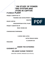 Report on Study of Power Generating System and Distribution in Captive Power Plant