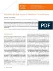 Prevalence and Risk Factors of Subclinical Thyroid Disease